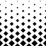 Fondo quadrato di progettazione del modello in bianco e nero Fotografie Stock
