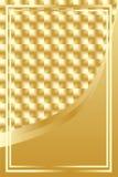 Fondo quadrato dorato di lusso Fotografia Stock