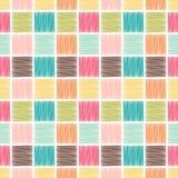 Fondo quadrato geometrico senza cuciture delle mattonelle illustrazione di stock