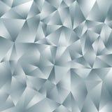 Fondo quadrato poligonale irregolare di vettore - modello basso del triangolo poli - colore leggero di gray di ardesia con lustro fotografia stock