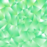 Fondo quadrato poligonale irregolare di vettore - modello basso del triangolo poli - colore verde al neon della menta fresca con  fotografie stock
