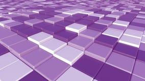 Fondo quadrato porpora dei mattoni, rappresentazione 3D Fotografia Stock