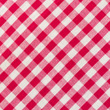 Fondo a quadretti bianco e rosso Fotografia Stock Libera da Diritti