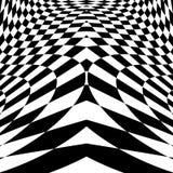 Fondo a quadretti di illusione del movimento di progettazione Immagini Stock