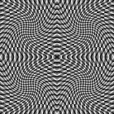Fondo a quadretti di illusione monocromatica di progettazione Fotografie Stock Libere da Diritti