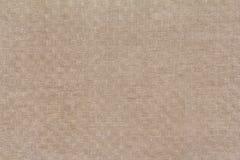 Fondo a quadretti di tela antico di struttura Fotografie Stock