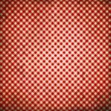 Fondo a quadretti rosso di lerciume fotografia stock