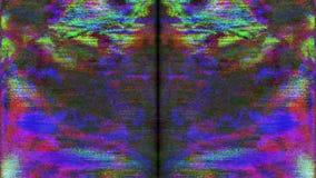Fondo que brilla de transformación del Cyberpunk futurista de los datos de error almacen de metraje de vídeo