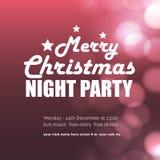 Fondo que brilla intensamente del partido de la noche de la Feliz Navidad stock de ilustración