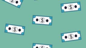 Fondo que cae HD del efectivo stock de ilustración