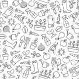 Fondo que cultiva un huerto ilustración del vector