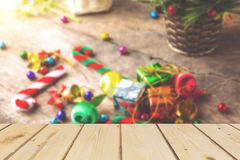 Fondo que empaña de la Navidad y del Año Nuevo Foto de archivo libre de regalías