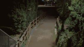Fondo que establece noche del parque del tiro metrajes