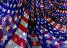 Fondo que fluye patriótico abstracto de la bandera americana de los E.E.U.U. Fotografía de archivo