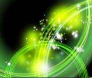 Fondo que señala por medio de luces verde - flash Foto de archivo