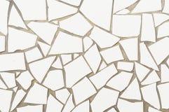 Fondo quebrado de las tejas de mosaico Imagen de archivo libre de regalías