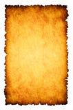 Fondo quemado áspero del papel de pergamino Imágenes de archivo libres de regalías