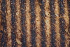 Fondo quemado de la tostada Fotografía de archivo