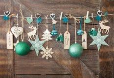 Fondo rústico de la Navidad Foto de archivo libre de regalías