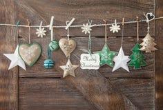 Fondo rústico de la Navidad Fotografía de archivo
