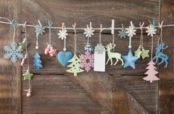 Fondo rústico de la Navidad Imágenes de archivo libres de regalías