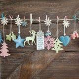 Fondo rústico de la Navidad Imagenes de archivo