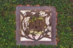 Fondo rústico de las hojas Fotografía de archivo libre de regalías