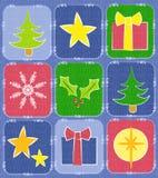 Fondo rústico del edredón de la Navidad Fotos de archivo