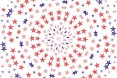 Fondo radial del papel pintado de las estrellas Foto de archivo libre de regalías