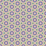 Fondo radial geométrico inconsútil islámico árabe abstracto del modelo Ilustración del vector Imágenes de archivo libres de regalías