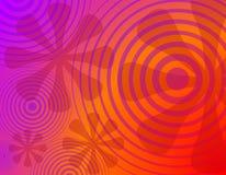 Fondo radial retro 1 de las flores de los círculos ilustración del vector