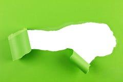 Fondo rasgado del Libro Verde Foto de archivo libre de regalías