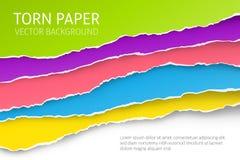Fondo rasgado del papel del borde stock de ilustración