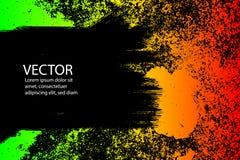 fondo rasguñado pintado grunge de la textura El reggae del ejemplo EPS10 colorea verde, amarillo, rojo stock de ilustración