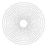 Fondo rayado al azar fino de los círculos concéntricos libre illustration