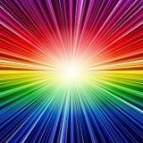 Fondo rayado arco iris abstracto de la explosión Foto de archivo libre de regalías