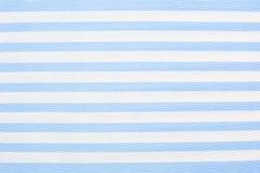 Fondo rayado azul de la tela Fotografía de archivo