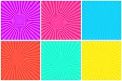 Fondo rayado brillante colorido para las burbujas cómicas libre illustration