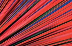 Fondo rayado Coloree las bandas que divergen de la esquina más baja a los bordes en diversa dirección Vector hermoso Imágenes de archivo libres de regalías