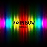 Fondo rayado del color del arco iris con el texto stock de ilustración