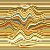 Fondo rayado del vector Ondas abstractas del color Oscilación de la onda acústica Líneas encrespadas enrrolladas Textura ondulada Fotografía de archivo libre de regalías