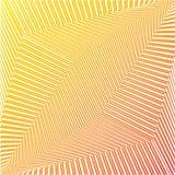 Fondo rayado futurista del extracto geométrico anaranjado Vector ilustración del vector
