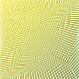 Fondo rayado futurista del extracto geométrico verde y anaranjado Vector stock de ilustración