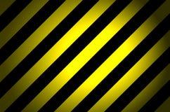 Fondo rayado negro amarillo Fotografía de archivo