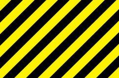 Fondo rayado negro amarillo Foto de archivo libre de regalías