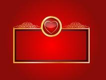Fondo real del corazón Imagenes de archivo