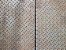 Fondo reale dell'acciaio del piatto del diamante Fotografia Stock