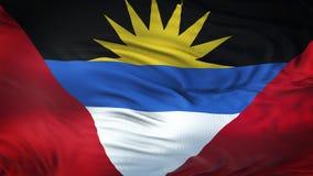 Fondo realista de la bandera de ANTIGUA que agita Y de BARBUDA Imágenes de archivo libres de regalías
