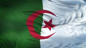 Fondo realista de la bandera de ARGELIA que agita Imagen de archivo libre de regalías
