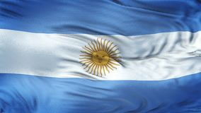 Fondo realista de la bandera de la ARGENTINA que agita Foto de archivo libre de regalías